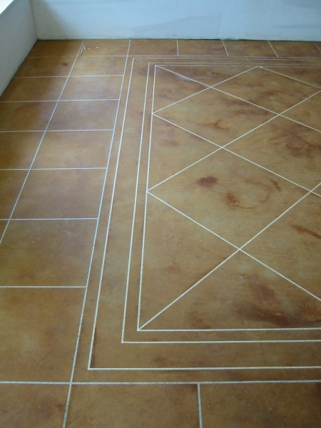 acid etched concrete stain is used throught out our home