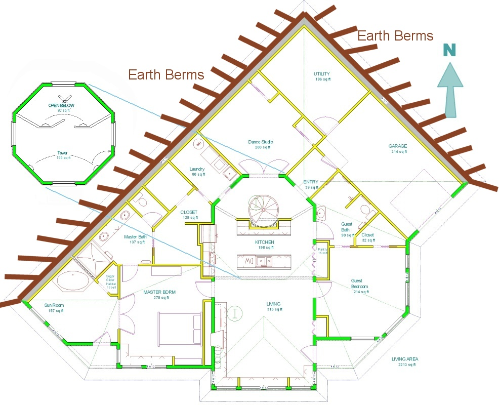 FLOOR PLANS EARTH CONTACT HOMES - House Plans and Home Designs