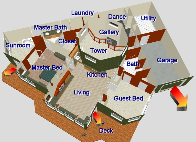 Floor plans for earth contact homes
